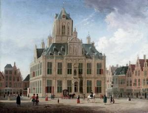 Stadshuis Delft door Jan ten Compe (rond 1750)