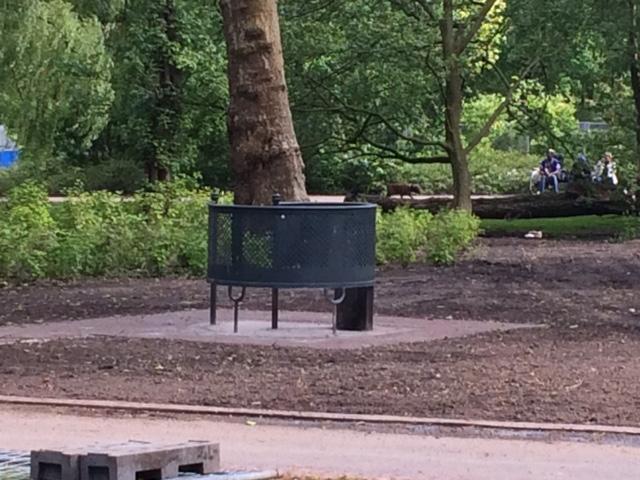 Het protest 'Omsingel het Oosterpark'